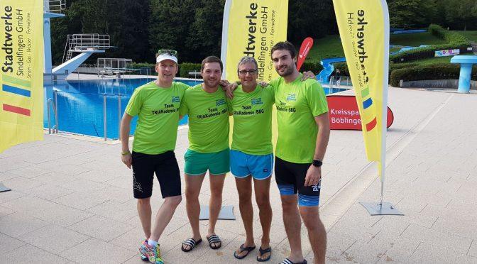Team TRIAkademie/BBG holt zum Auftakt der Team Challenge sensationell Platz 3